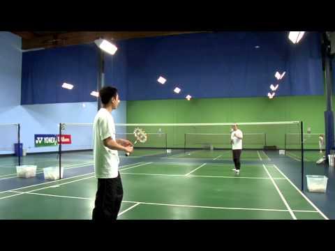 How to Hit an Overhead Drop Shot in Badminton : Badminton