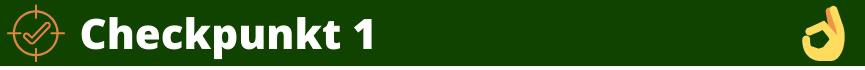 Grünes Banner-Checkpunkt 1