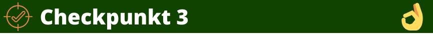 Grünes Banner-Checkpunkt 3