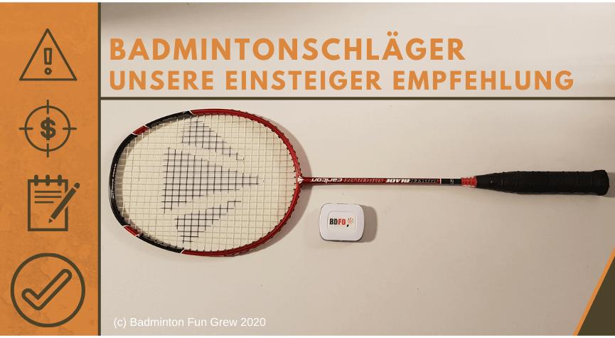 Badmintonschläger Einsteiger Empfehlung Beitragsbild