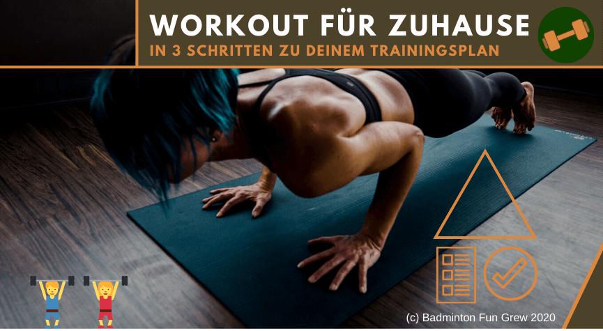 Workout für Zuhause - In 3 Schritten zum Trainingsplan