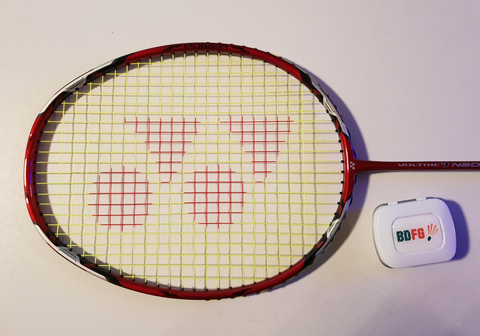 Badmintonschläger Test Yonix Voltric 7 Neo Schlägerkopf